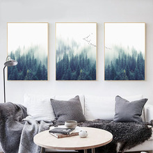 Nordic Decoration Forest Landscape Wall Art Canvas Poster Print Canvas Painting Decorative Picture for Living Room Home Decor