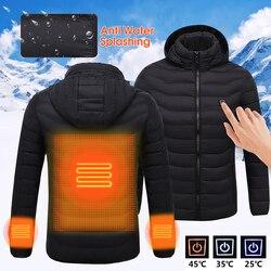 Mens Inverno Riscaldata USB Da Lavoro Con Cappuccio Cappotti Giacca di Controllo della Temperatura Regolabile di Sicurezza Abbigliamento