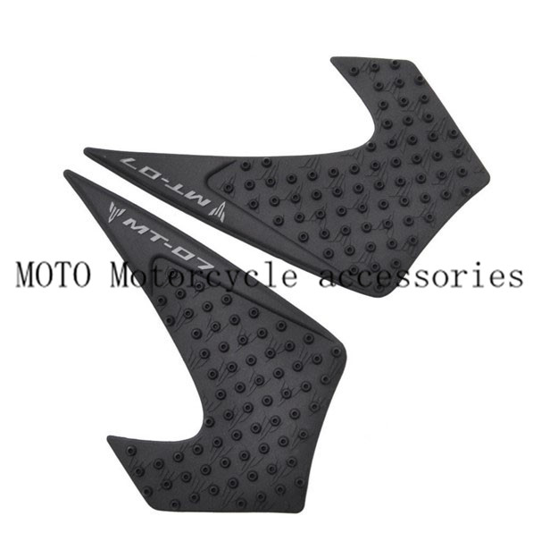 Knee Tank Pads For Yamaha MT 07 MT07 2014 2015 Motorcycle Tank Pad Protector Sticker Decals Gas Knee Grip Tank Traction Pad Side