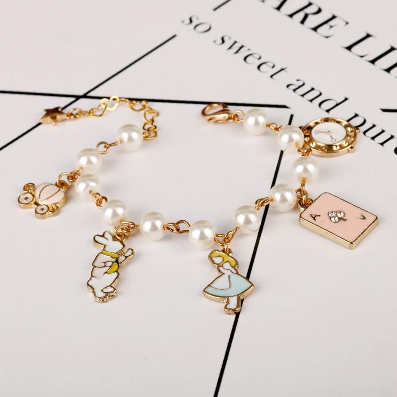 Alice in Wonderland Charm Bracelets Bangles Fairy Tale Storys