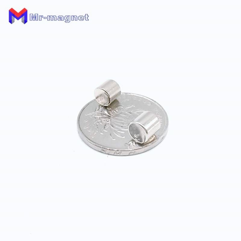 Купить с кэшбэком 200Pcs 6 x 6 mm magnet Bulk Small Round NdFeB Neodymium Disc Magnets Dia.6x6mm N35 Super Powerful Strong Rare Earth NdFeB Magnet