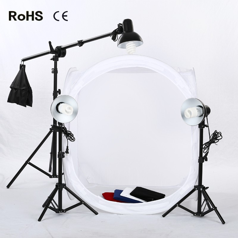 Photo Studio Shooting Tent Light Cube Diffusion Soft Box Kit with 4 Colors Backdrops