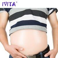 IVITA 1800 г 8 10 месяцев Реалистичная из мягкого силикона живота накладной живот для имитации беременности Беременность Материнство реалистичн