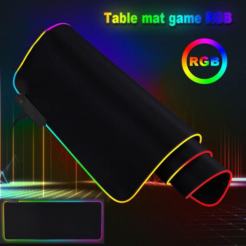 80*30 см игровой коврик для мыши геймер резиновый коврик для мыши RGB свет подсвеченные мышки коврик для мыши для компьютера компьютер, ноутбук, лептоп