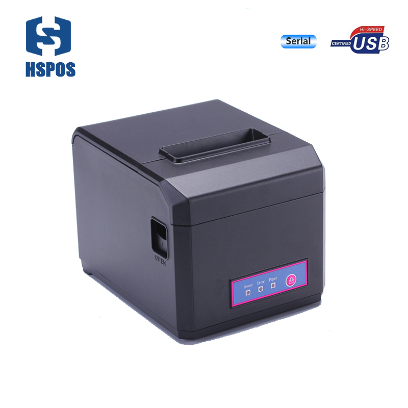 Serial+USB printer 3inch impresora termica with quality cutter thermal receipt printer support windows10 driver for POS HS-E81US low cost and high quality thermal printing cheap pos80 receipt printer support linux windows10 use for business hs 825uc