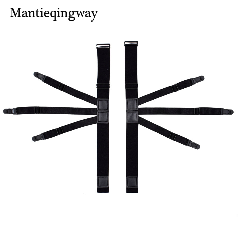 Mantieqingway Mens Shirts Holders Suspensorio For Women Shirt Stays Garters Holder Adjustable Resistance Belt With Non-slip