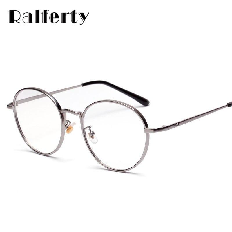 4f8e4b2141f Online Shop Ralferty Vintage Round Glasses Frame Women Men Gold ...