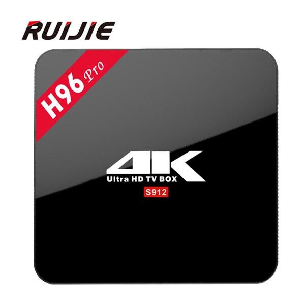 ФОТО H96 Pro Android 6.0 TV Box S912 Octa Core 2G and 3G RAM 16G ROM Bluetooth 4.0 Dual Wifi Kodi Gigabit Ethernet 1000M 4K Smart TV