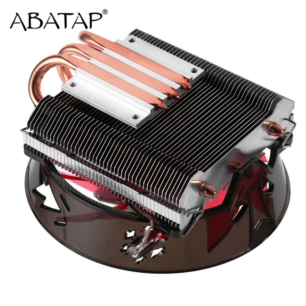 Ultra Quiet CPU Cooler Fan Pure Copper Heat Pipe CPU Radiator CPU Hydraulic Chassis Fan Cooling System For Intel Processor 10pcs lot ultra small gvoove pure copper pure for ram memory ic chip heat sink 7 7 4mm electronic radiator 3m468mp thermal
