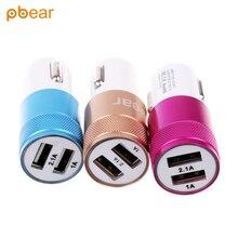 Pbaer Auto Micro Portable USB Doble Carga Rápida inteligente eléctrica Cargador de Batería de coche AU de LA UE REINO UNIDO adaptador de Soporte para móvil teléfono