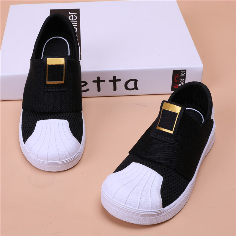 BABAYA Brand 3 Striped Summer Breathable Air Mesh Easy Wear Slip-on Boys Girls Sneakers Children Kids Casual Shoes цена