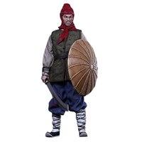 1/6 Древний китайский Солдат модель династии Мин серии Qi армейская фигурка модель с саблем и щит Строительный Блок игрушка для детей