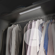 10 Светодиодная лампа в шкаф датчик движения ночник с магнитной полосой JDH99