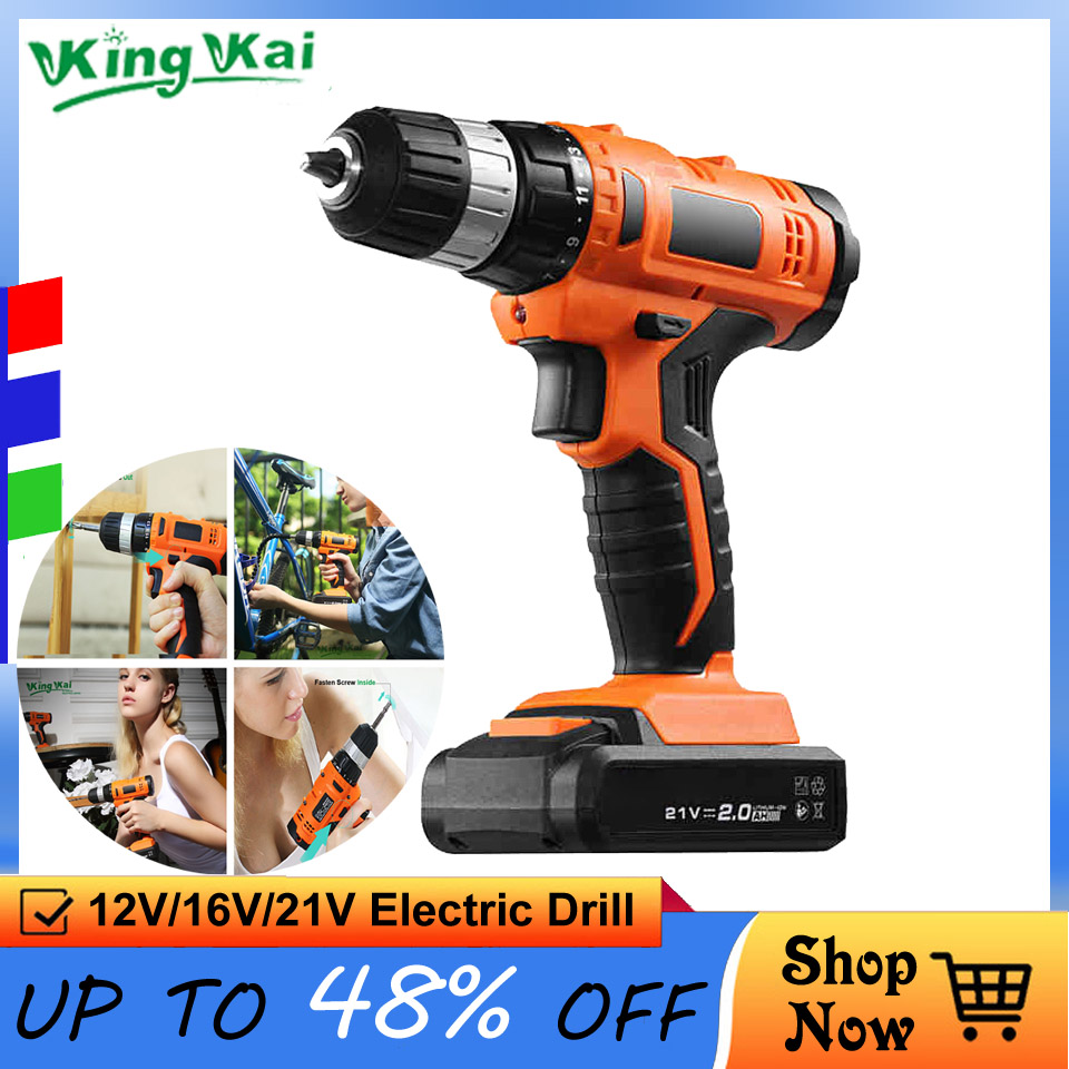 S 12 16 21 V Household Multifunctional Cordless Waterproof Rechargeable Lithium Battery Electric Drill Torque Screw Driver China