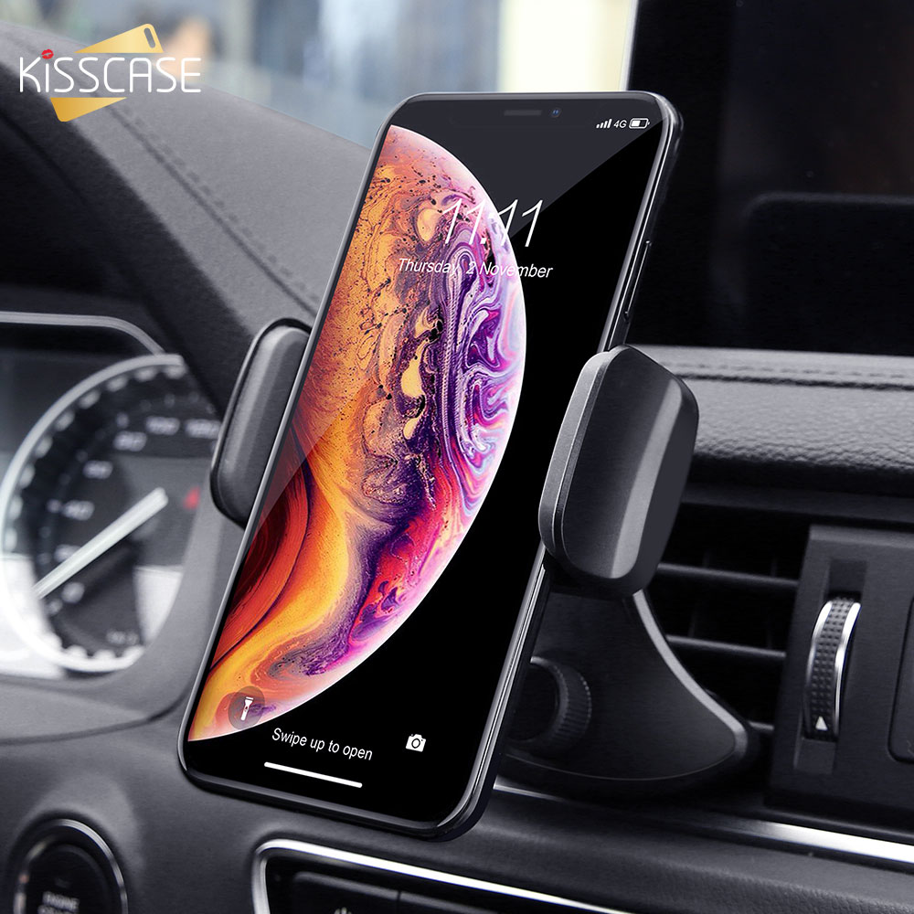 KISSCASE Gravity Car Phone Holder 360 Rotation CD Slot Car Holder Mobile Phone Holder Car Stand Support For IPhone 7 Samsung S9