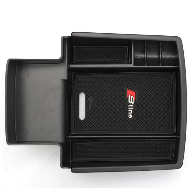 Moonet Preto Car Glove Box Braço Caixa de Armazenamento Secundário Organizador Da Tampa Do Carro Para Audi Q5 Alta Qualidade QC256