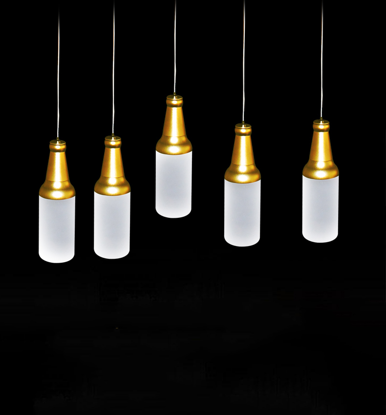 Modern led acrylic pendant lights creative wine bottle