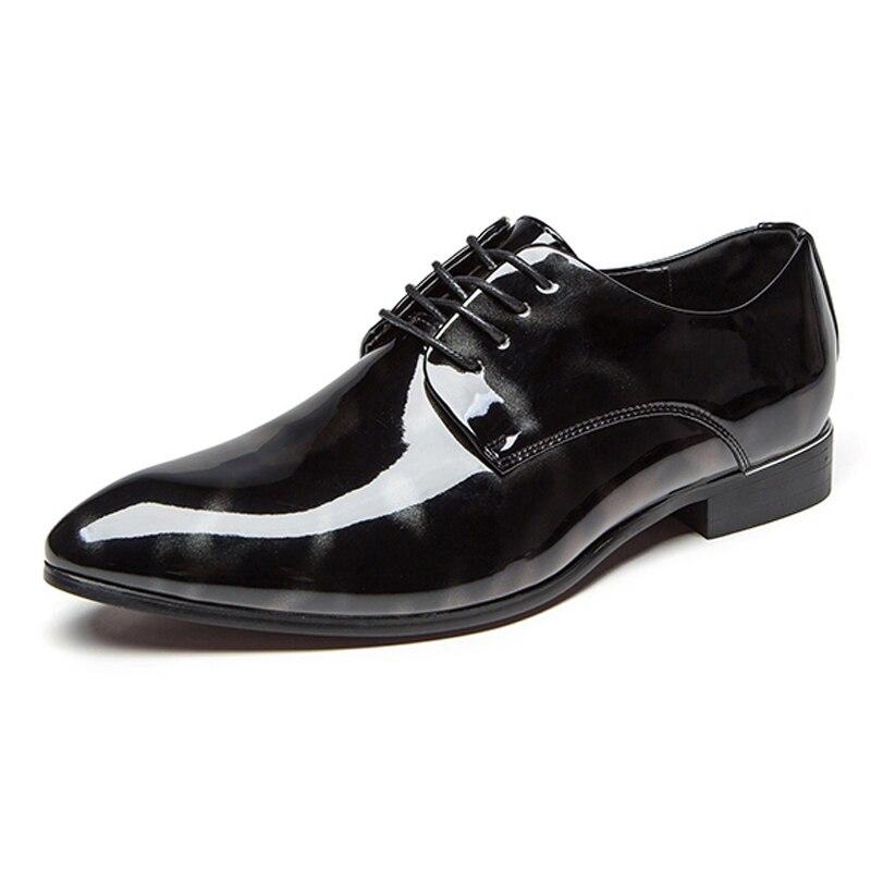 be439e3373 Lace azul Tamaño Redonda Charol De 38 Boda Hombres Negro Cms11 Formal Up  Zapatos vino La Hombre ...