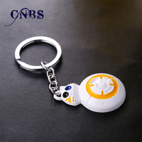 12/pcs/lot Star Wars Keychain Force Awakens BB8 BB 8 R2D2 Droid Robot Metal Key Rings Gift Chaveiro Key chain Jewelry for cars
