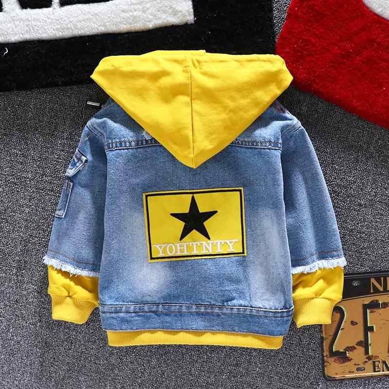 Jeansowa kurtka dziewczyny dzieci 2019 jesień chłopcy bluzy płaszcz Denim z długim rękawem odzież wierzchnia dzieci wiatrówka dla 1th 2 3 4 5 6 lat