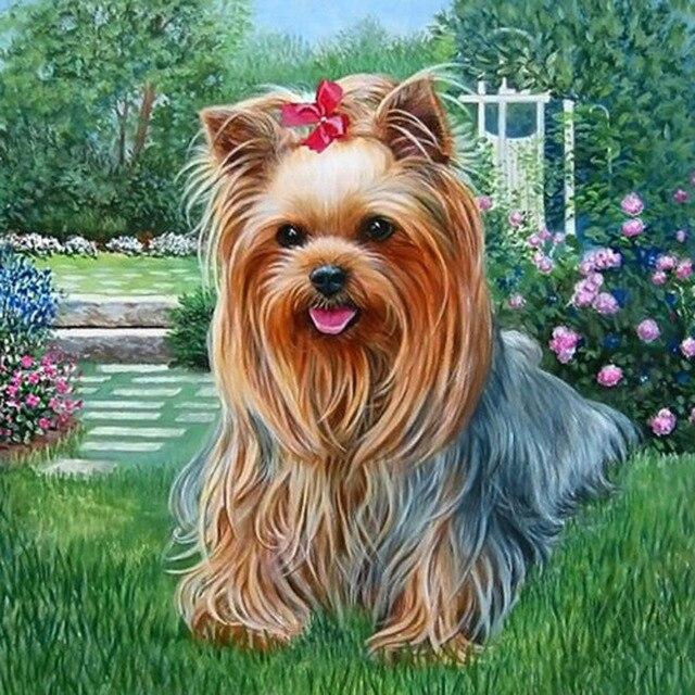 3D DIY Square Diamond Painting Hot Sale Full Diamond Embroidery Crafts DIY Needlework Kits Home Decor Dog