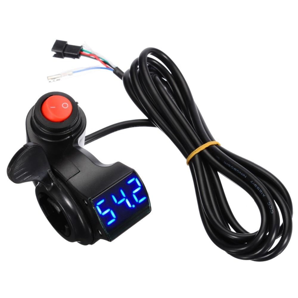polegar acelerador com interruptor de alimentação display