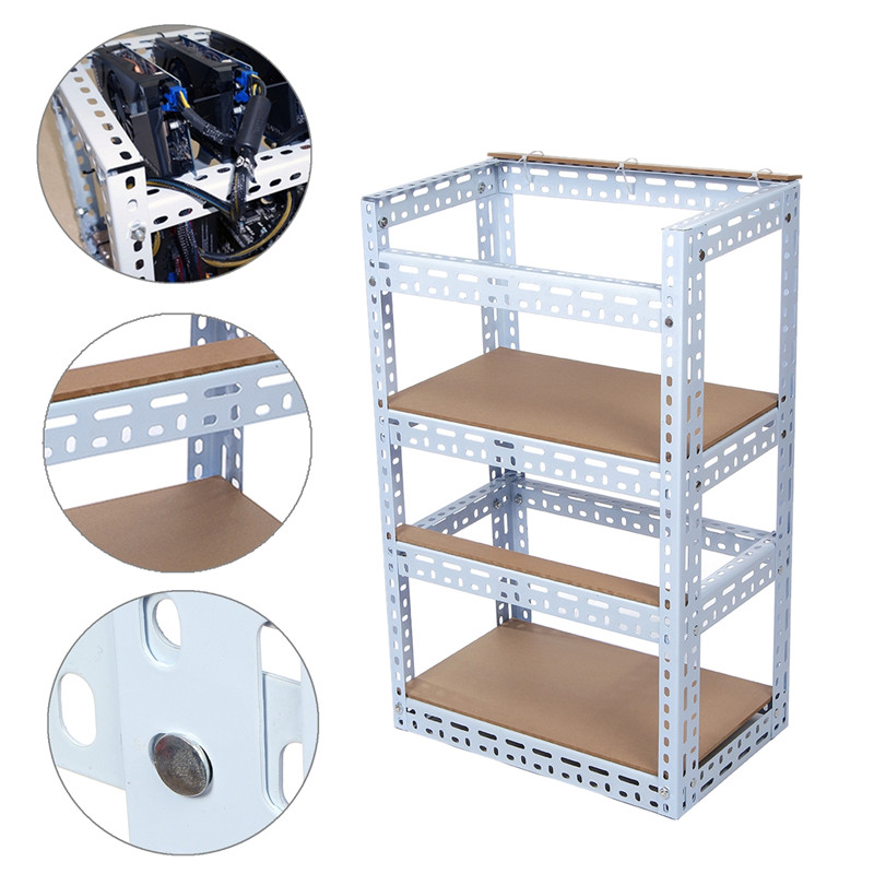 8 Graphics Card Computer Mining Case Steel Crypto Coin Open Air Mining Rig Frame Case For 8 GPU ETH BTC Ethereum steel coin open air miner mining frame rig case up to 8 gpu graphics card btc ltc eth ethereum for miner bitcoin bitman pc case