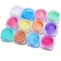 Polvo de Pigmento Decoración de uñas Glitter Powder 2g Espejo Nails Art Glitter Glitter Powder Lentejuelas Brillo Espejo Cromo M02993