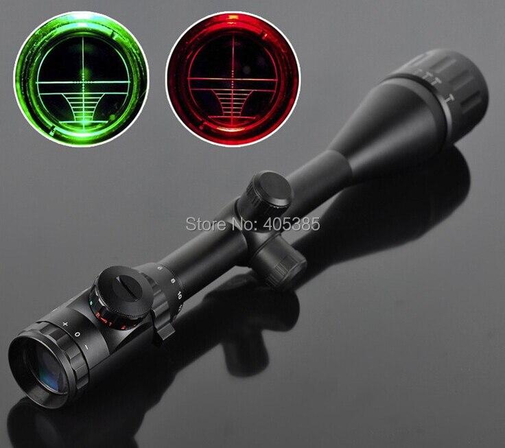 ФОТО Free Shipping! 6-24x50AOE Riflescope Hunting Rifle Scope with free 11mm / 20mm rail mounts Scope Rings Air weapon Gun