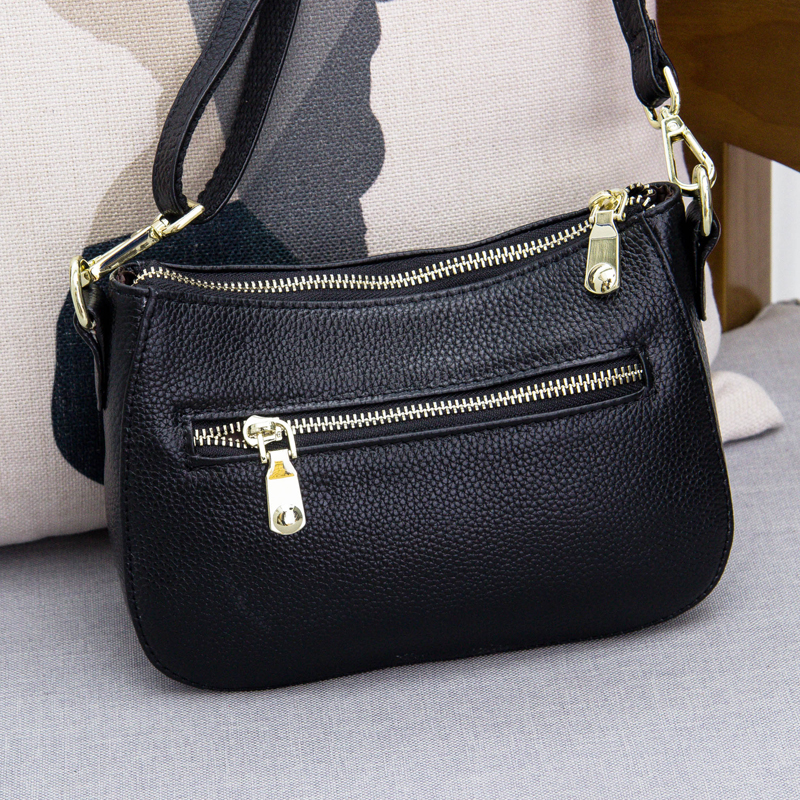 Image 2 - Genuine Leather Small Crossbody Bags For Women Fashion Shoulder  Bag Ladies Messenger Handbags Luxury Crescent Purse Totegenuine leather  hand bagleather hand bagshand bag