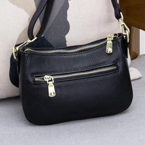 Image 2 - Genuine Leather Small Crossbody Bags For Women Fashion Shoulder Bag Ladies Messenger Handbags Luxury Crescent Purse Tote