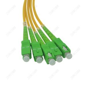 Image 2 - ZHWCOMM SC APC PLC 1X4 Single mode Fiber Optical splitter FTTH  optical coupler splitter