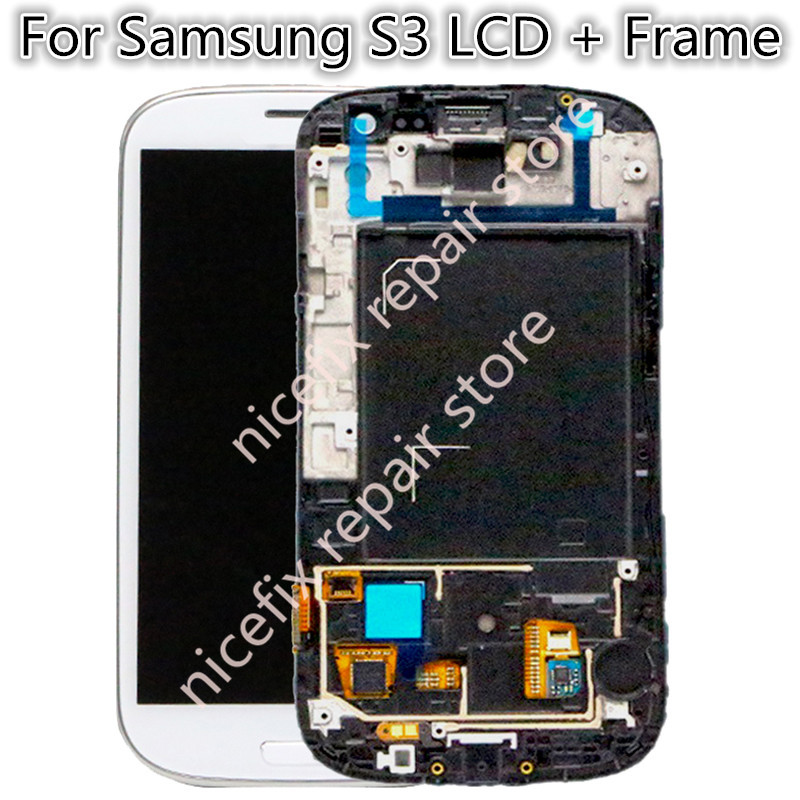 For Samsung Galaxy S3 III i9300 i9305 i9301 i747 L710 LCD with Touhch screen Digitizer With
