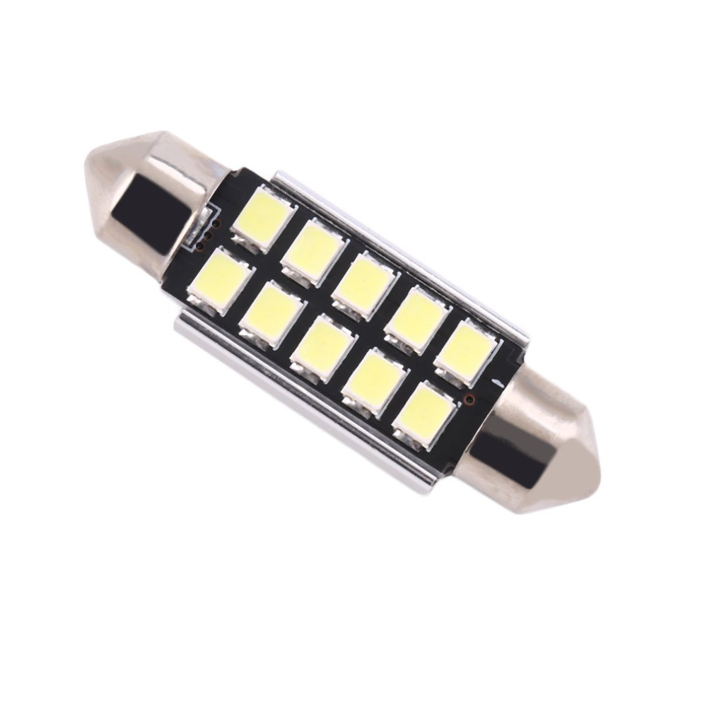 Cool White 39mm 10 Led 12V Car LED Number Plate Lights Bulbs Canbus Error Free For BMW E46 E39 E60 E90 E70 x5 Drop Shipping 2 x led number license plate lamps obc error free 24 led for bmw e39 e80 e82 e90 e91 e92 e60 e61 e70 e71