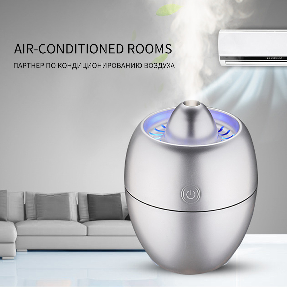 260ML Creative Engine Design Humidifier Ultra Quiet Technology Mist Maker With Blue LED Light Auto Power Off Function Air Purifier
