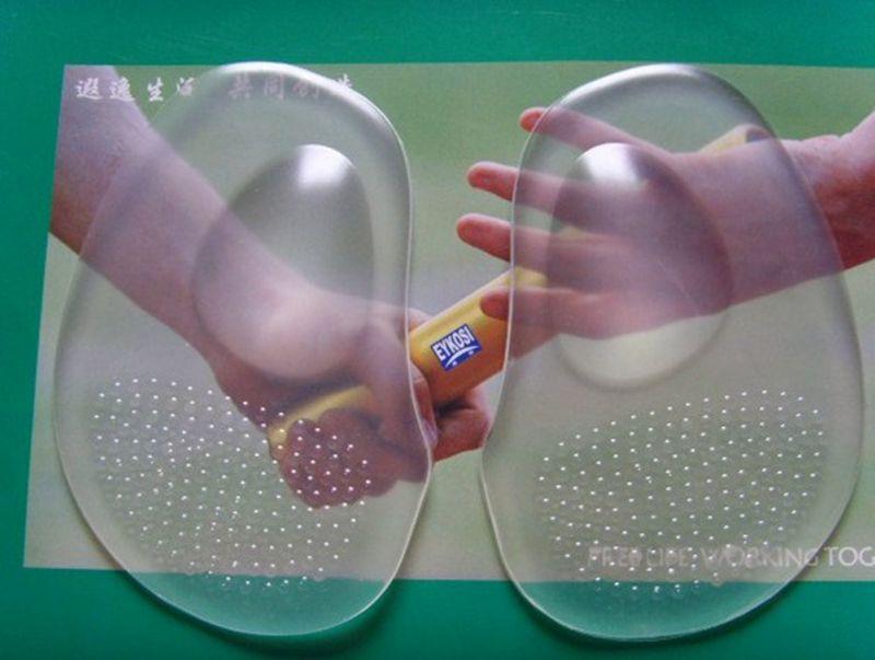 Прозрачные силиконовые стопы Средства ухода за мотоциклом вставки для обуви стельки Non-Slip Арка Поддержка колодки