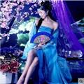 Древняя китайская hanfu одежда женщины китайский народный танец костюм династии цин традиция шелковый династии принцесса взрослых девочка