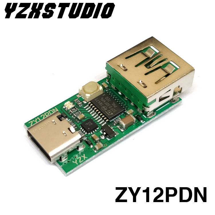 Type-C USB-C PD2.0 3.0 TO DC USB Decoy Fast Charge Trigger Poll Detector PD 5A 9v 12v 15v 20V Or Automatic Test