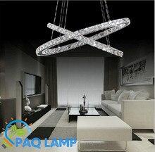 Роскошные кольца из светодиодов люстра лампа 2 — 3 кристалл кольца диаметром 500 мм — 700 мм фойе висит светильник