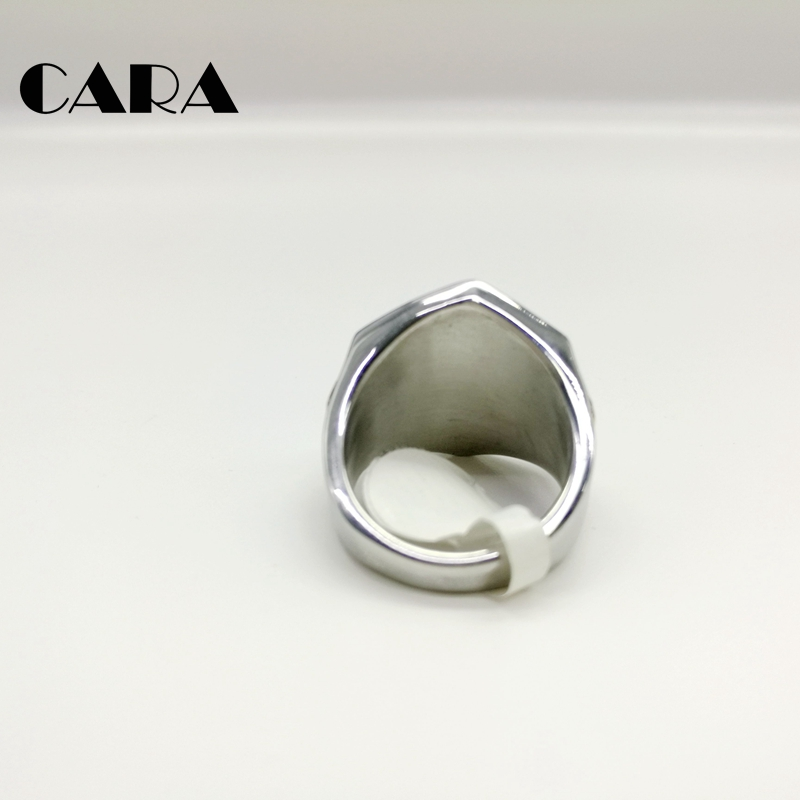 2019 New Hot seller Fashion Plated Stainless Steel Gold Silver men ring HiP Hop Number 13 Motorcycle Biker Ring Jewelry CARA0171 in Rings from Jewelry Accessories