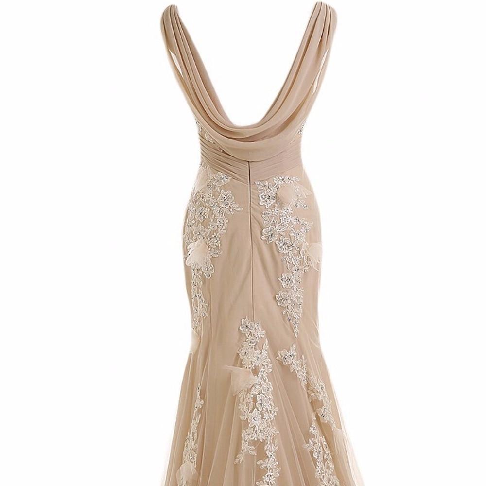 ANTI 2018 Uzun Örgün Abiye abiye Zarif Elbisesi Parti Vestido De - Özel Günler Için Elbise - Fotoğraf 4