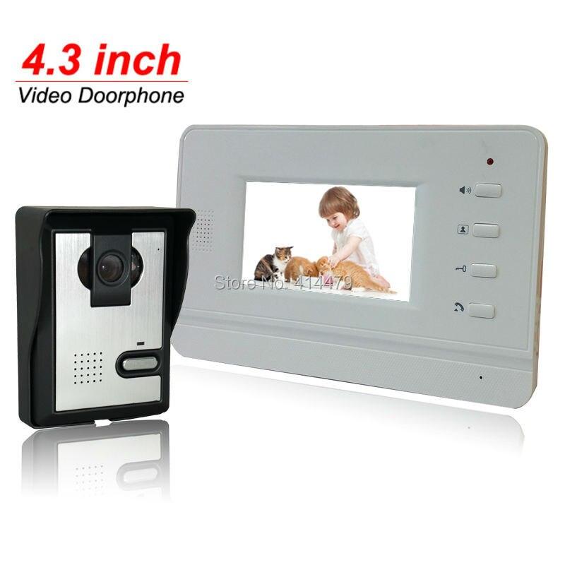 4.3 inch Color Video Door Phone Intercom Kit Rainproof Night Vision Doorbell Camera4.3 inch Color Video Door Phone Intercom Kit Rainproof Night Vision Doorbell Camera