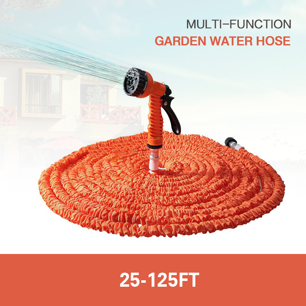 Hot selling 100ft expandable magic flexible garden water hose for car hose pipe plastic hoses to Expandable garden hose 100 ft