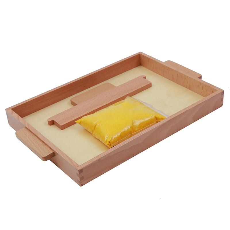 Jouet bébé Montessori plateau de sable éducation de la petite enfance formation préscolaire jouets d'apprentissage - 2