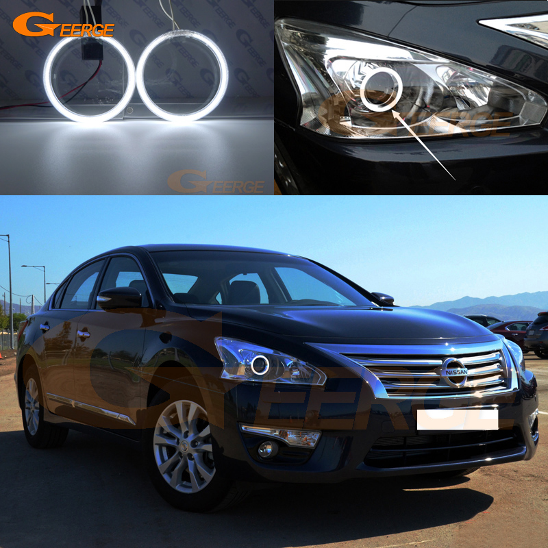 For Nissan Teana L33 Altima 2013 2014 2015 Excellent Angel Eyes Ultra bright illumination CCFL Angel Eyes kit Halo Ring коврики в салон nissan teana 2014
