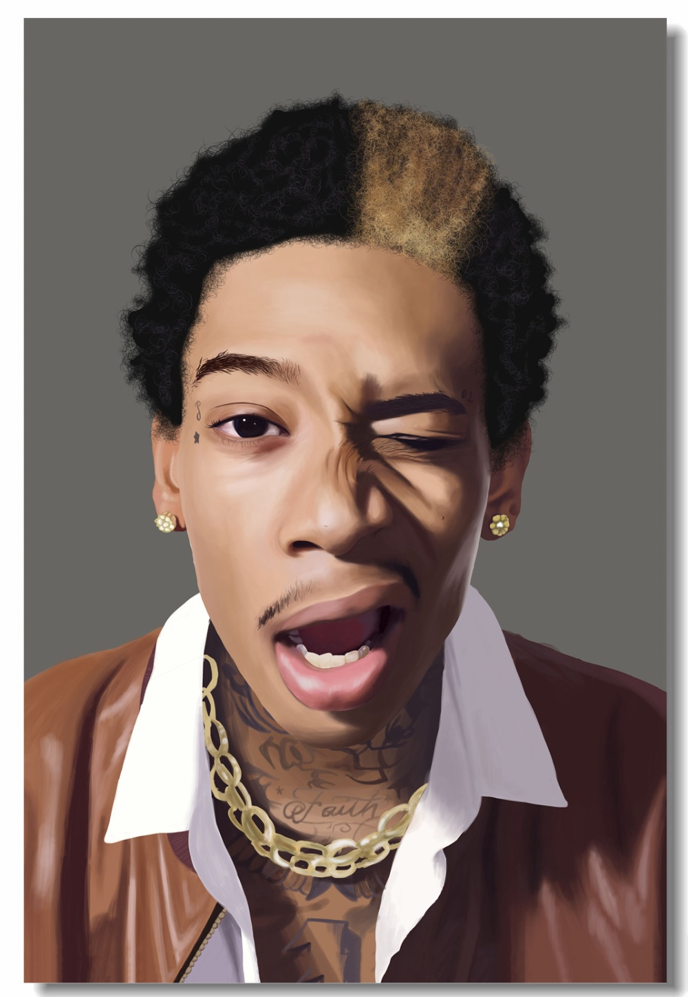 502 Wiz Khalifa Rapper Stars Art Wall Cloth Poster Print