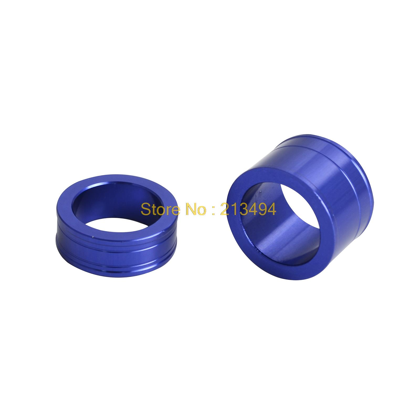 CNC Billet Aluminum Front Wheel Spacer Hub Collar For Yamaha YZ250F YZ450F 2014 2015 2016 2017 1 pair car aluminum wheel spacer adapter hub flange 6 139 7 25mm for toyota prado2700 3400 4000 4500