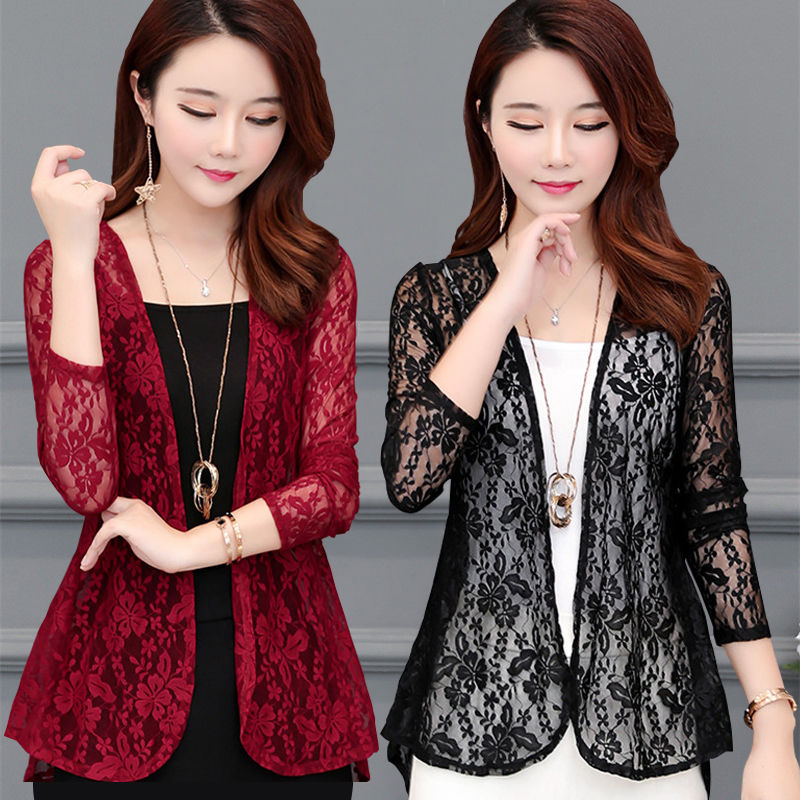 Women Summer Kimono Cardigan Sun   Blouse     Shirt   2018 Boho Beach Lace Long Chiffon Cover Ups Sunscreen Sunproof Outwear Long Sleeve