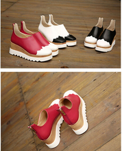 Size 35-39 # 3 Colours Lady Autumn Shoes Fashion Cool Korean Back-Zipper Roman Sweet Mix Color Wedges Lady Wedge Shoes ML2550