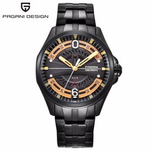 Relogio Masculino PAGANI DESIGN Men Date Week Army Mens Watches Top Brand Luxury Stainless Steel Military Wrist Watch Clock Men fashion quartz watch men watches top brand luxury male clock stainless steel watches mens wrist watch hodinky relogio masculino